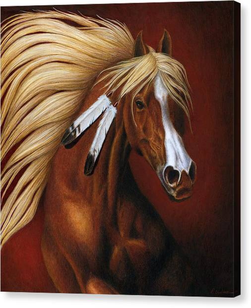 Bay Horse Canvas Print - Fire Dance by Pat Erickson