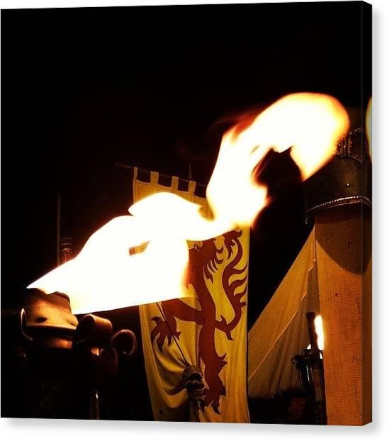 Llamas Canvas Print - Fire Dragon by Antonio Viana