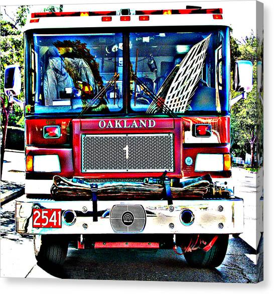 Fire Engine Study 1 Canvas Print