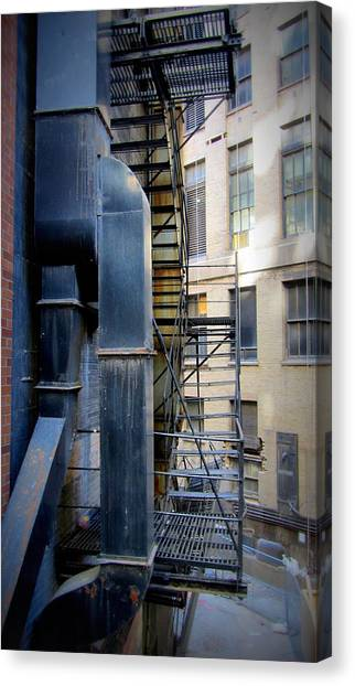 Chicago Fire Canvas Print - Fire Escape Chicago 1 by Anita Burgermeister