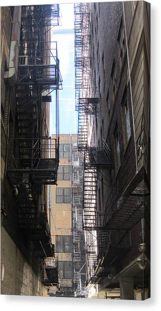 Chicago Fire Canvas Print - Fire Escape Chicago 2 by Anita Burgermeister
