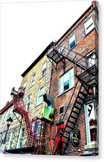 Fire Escape Lattice - Ontario - Canada Canvas Print