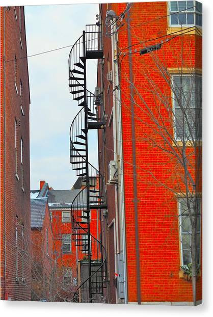 Fire Ball Canvas Print - Fire Escape by Mark Ball