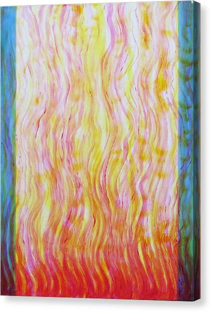 Fire Flow Canvas Print by Tom Hefko