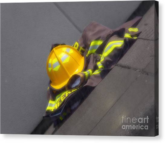 Ohio Valley Canvas Print - Fire Gear by Melissa Lightner