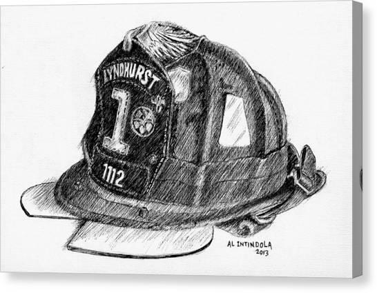 Fire Helmet Canvas Print