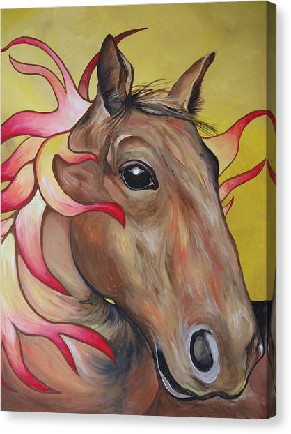 Fire Horse Canvas Print