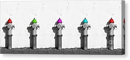 Firefighters Canvas Print - Fire Hydrants by Dia Karanouh