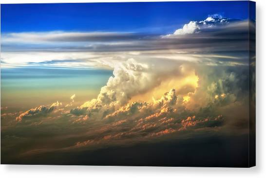 Sunlight Canvas Print - Fire In The Sky From 35000 Feet by Scott Norris