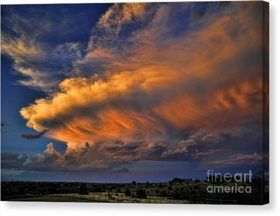 Thunderclouds Canvas Print - Fire In The Sky by Karen Slagle