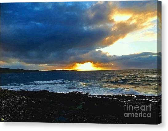 Fire In The Skye Canvas Print