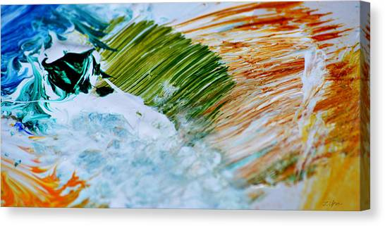 Fire Meets Water Canvas Print