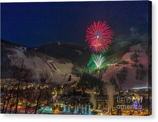 Fire Over Vail Canvas Print