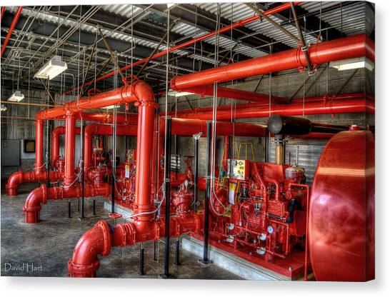 Fire Pump Canvas Print
