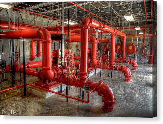 Fire Pump Room 2 Canvas Print