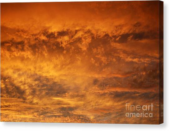 Fire Sky Canvas Print by Manda Renee