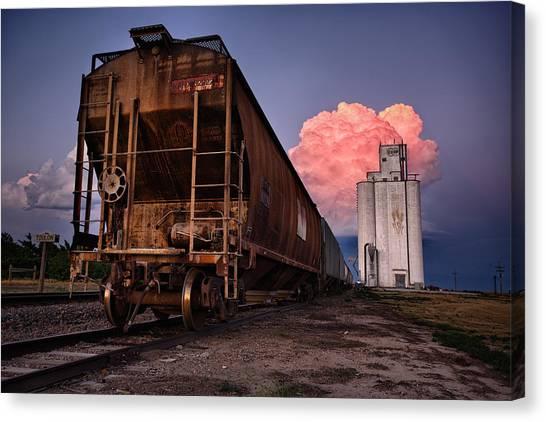 Locomotive Canvas Print - Fire Train by Thomas Zimmerman