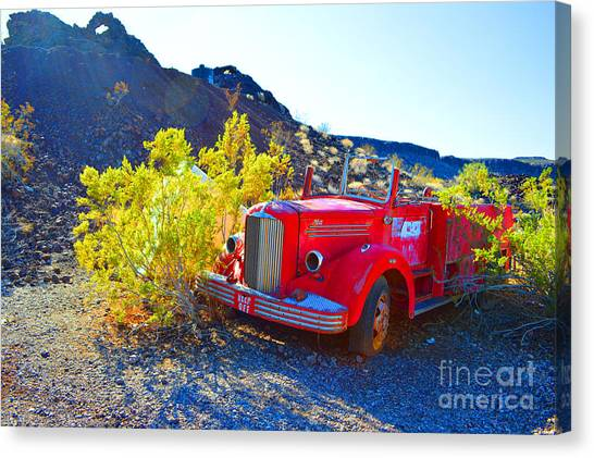 Fire Truck Parking Canvas Print