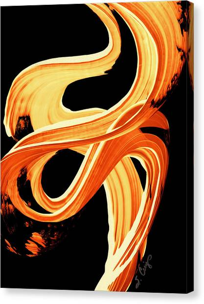 Fall Canvas Print - Fire Water 207 By Sharon Cummings by Sharon Cummings