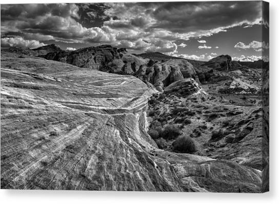 Valley Of Fire Canvas Print - Fire Wave II by Joseph Smith