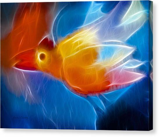 Firebird Canvas Print by Ann Croon