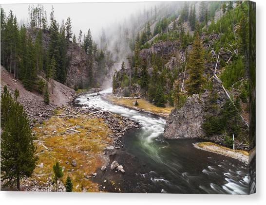 Yellowstone National Park Canvas Print - Firehole Canyon - Yellowstone by Brian Harig
