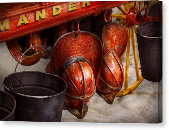 Volunteer Firefighter Canvas Print - Fireman - Hats - I Volunteered For This  by Mike Savad