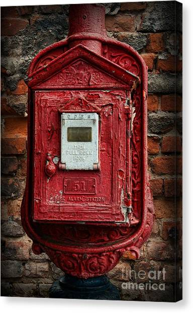 Firefighters Canvas Print - Fireman - The Fire Alarm Box by Paul Ward