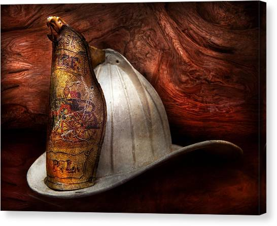 Fireman - The Fire Chief Canvas Print