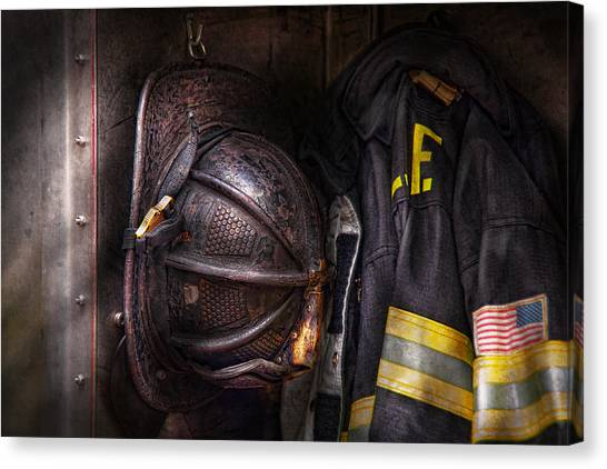 Fireman - Worn And Used Canvas Print