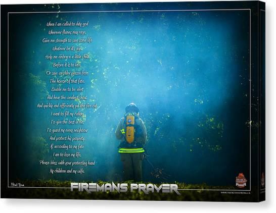 Firemans Prayer Canvas Print by Mitchell Brown
