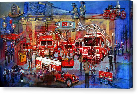 Firemen's Convention Canvas Print