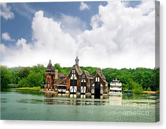 Firestation On The 1000 Islands Canvas Print