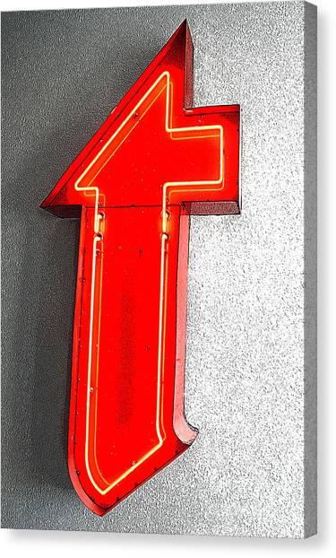 Firestone Building Red Neon T Canvas Print