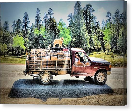 Firewood Gathering Canvas Print