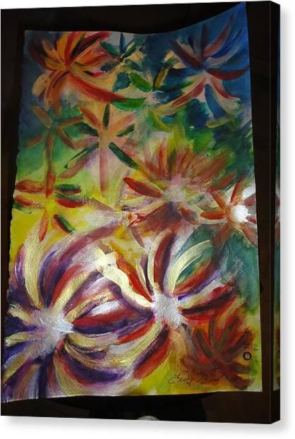 Firework Flower Canvas Print by Eric Birmingham