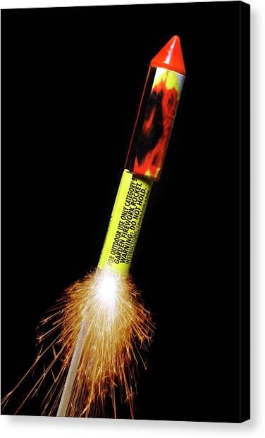 Pyrotechnic Canvas Print - Firework by Victor De Schwanberg