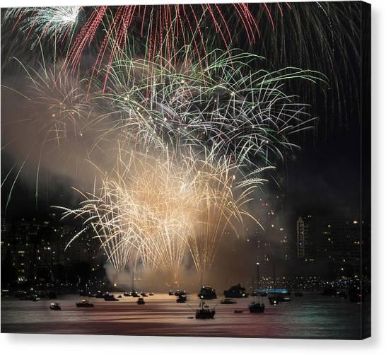 Fireworks In Englishbay 1 Canvas Print