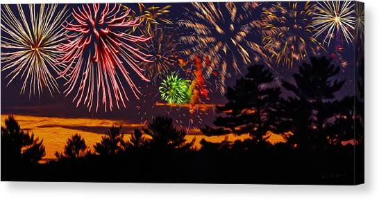 Fireworks No.1 Canvas Print