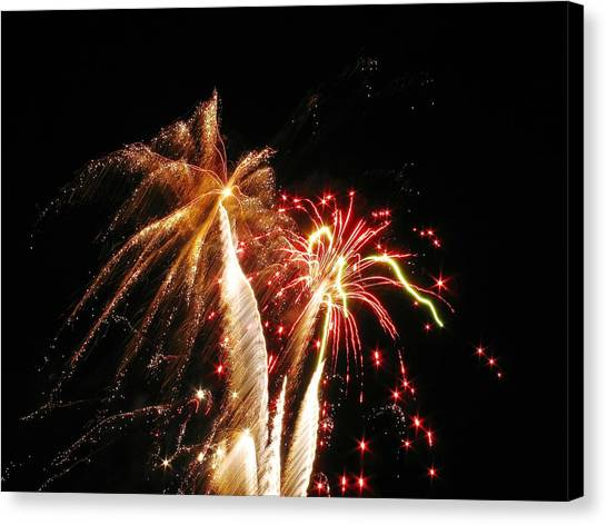 Fireworks On Display Canvas Print by Steven Parker