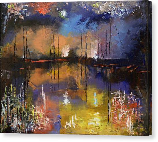 Fireworks Canvas Print - Fireworks Display by Michael Creese