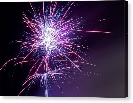 Fireworks - Purple Haze Canvas Print