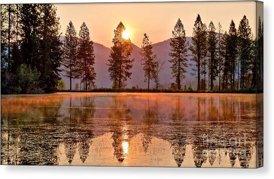 Firey Reflections Canvas Print