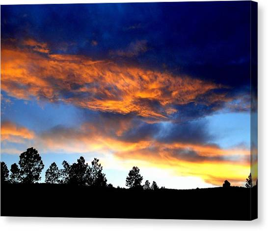 Firey Sunset Of Angel Fire Canvas Print