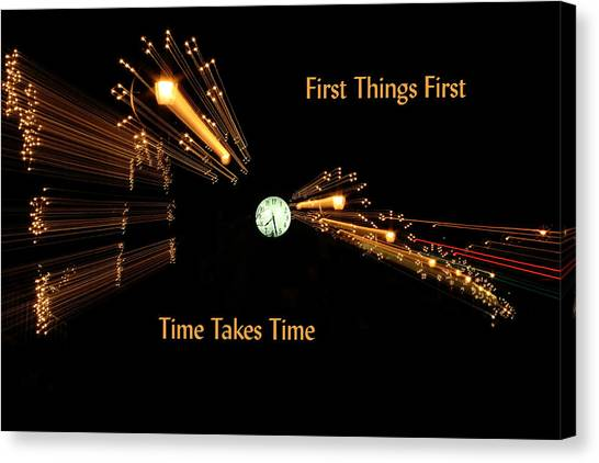 Canvas Print - First And Time by Larry Robinson