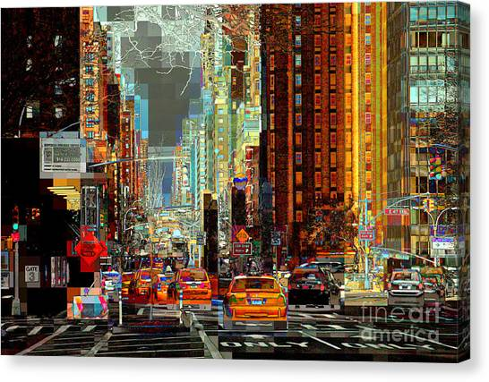 First Avenue - New York Ny Canvas Print