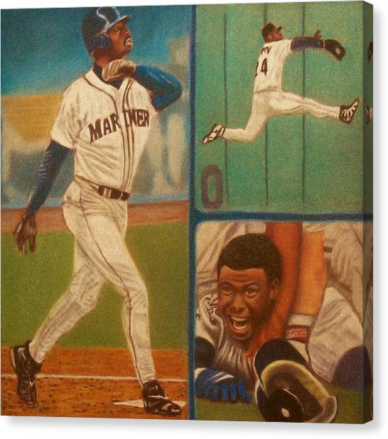 Seattle Mariners Canvas Print - First Ballot Feat Ken Griffey Jr. by D Rogale