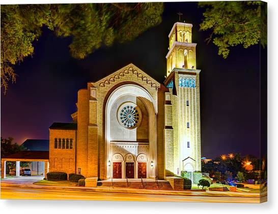 First Baptist Church Of Pensacola Canvas Print
