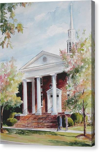 First Baptist Church Sold Canvas Print