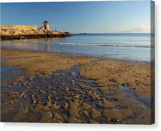 First Beach Sunrise In Rockport Canvas Print